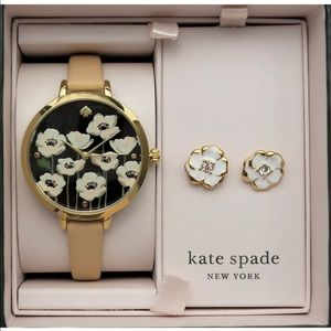 Kate Spade Holland Flower Watch & Earrings